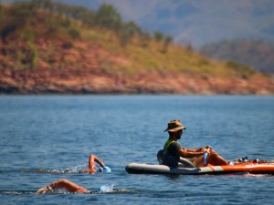 Week 3 Taking it easy at the Lake Argyle Swim Kununurra